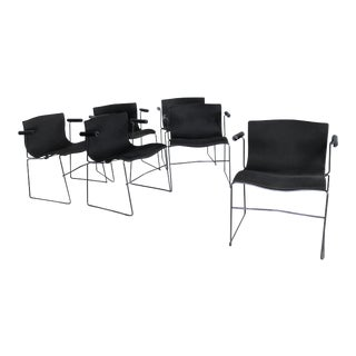 Massimo & Lella Vignelli for Knoll Vintage Handkerchief Chairs - Set of 6 For Sale