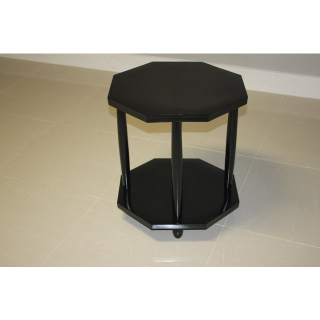 1940s French Art Deco Black Ebonized Coffee/Side Table For Sale - Image 13 of 13
