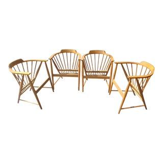 Vintage Whitney Model 1510 Hard Rock Maple Dining Chairs-Set of 4 For Sale
