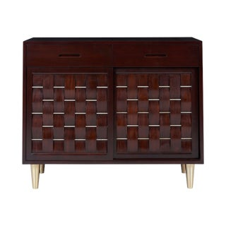 Dunbar Woven Front Credenza Chest by Edward Wormley For Sale