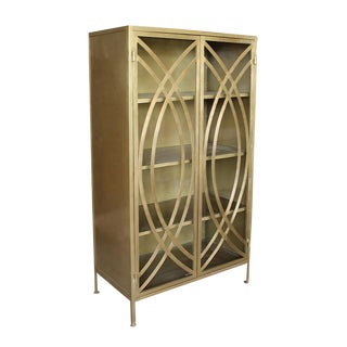 Brass Finish Cabinet