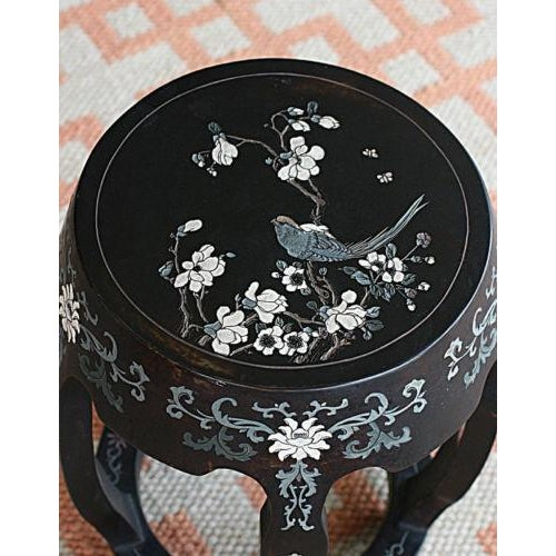 Antique Hand Carved Chinoiserie Garden Stool - Image 3 of 3