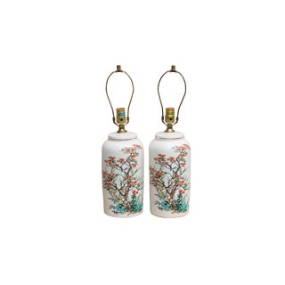 Chinoiserie Porcelain Table Lamps - a Pair For Sale