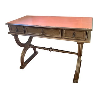 1950s Gold Leaf Painted Writing Desk For Sale