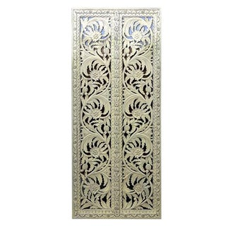 Reclaimed Anglo-Indian Teak Door Panel For Sale