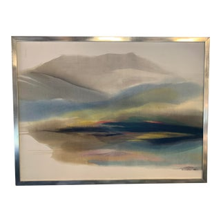 Large Scale Landscape Painting by Rosamond Brown For Sale