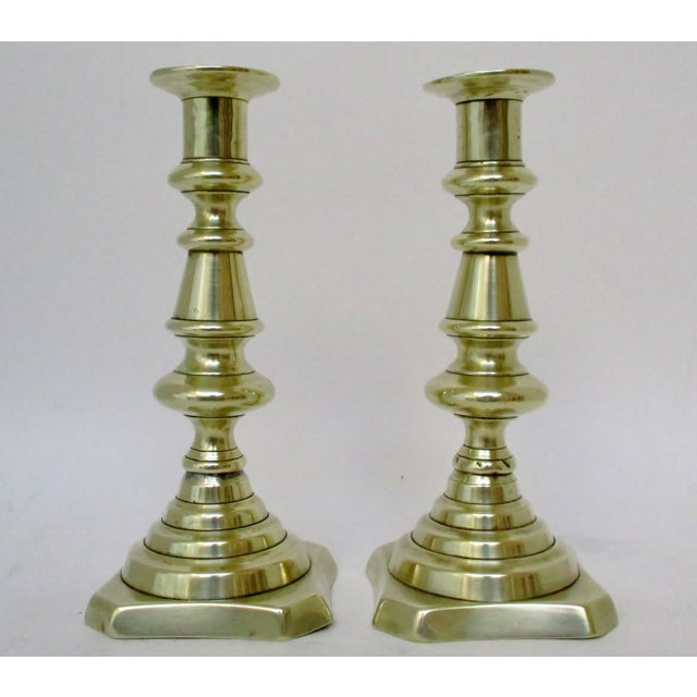 Mid 20th Century Brass Mismatched Candlesticks, Set of 12 For Sale - Image 5 of 8