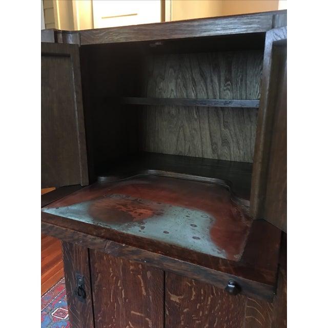 1925 Mission Oak Prohibition Era Liquor Cabinet - Image 10 of 10