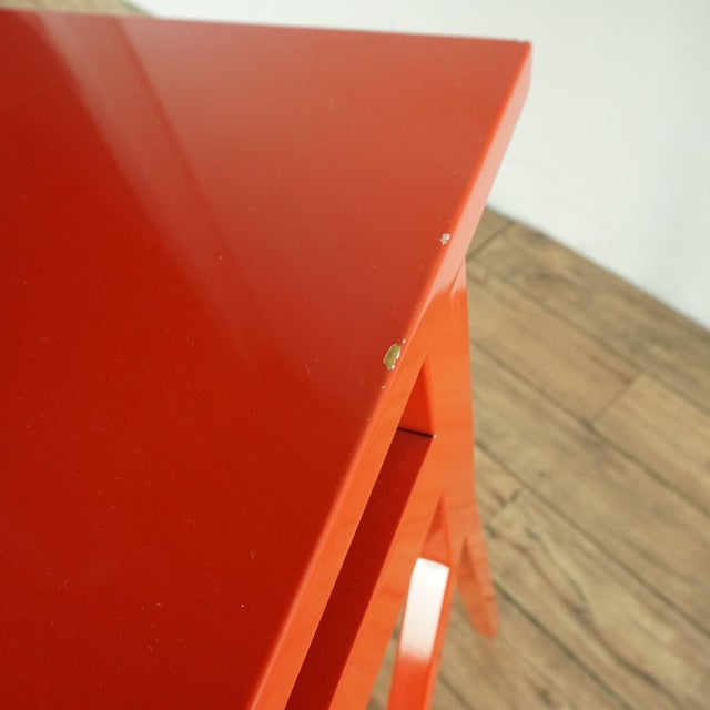 Red Contemporary Blu Dot Red Computer Desk For Sale - Image 8 of 10
