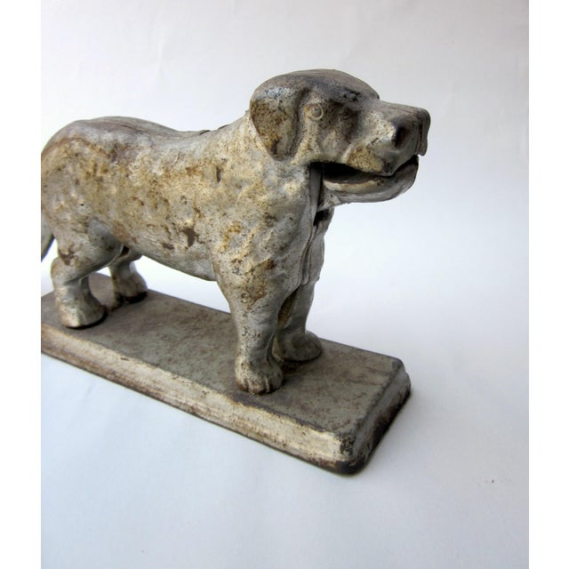 1920s 1930s Vintage Cast Iron Dog Golden Retriever Labrador Hinged Tabletop Nutcracker For Sale - Image 5 of 9