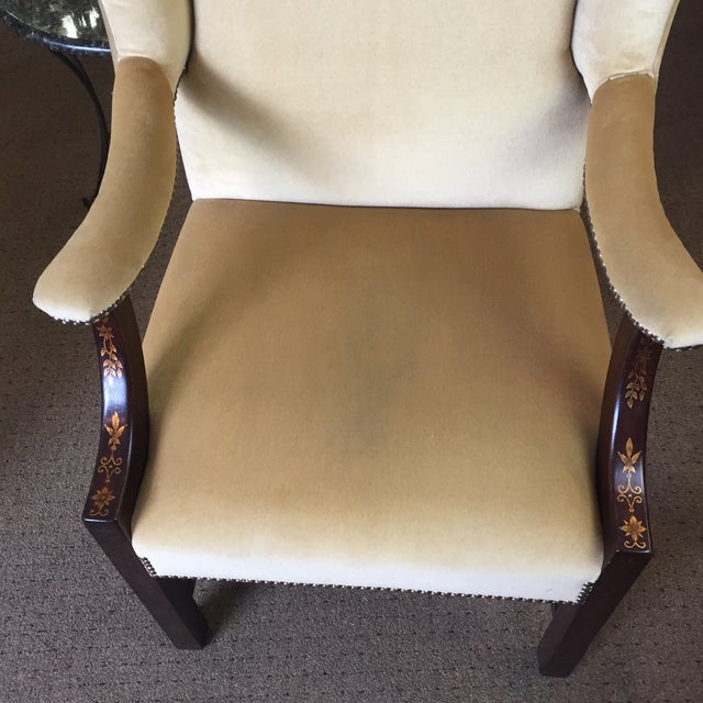 Comfort Home Tan Wingback With Nailhead Chair - Image 3 of 8