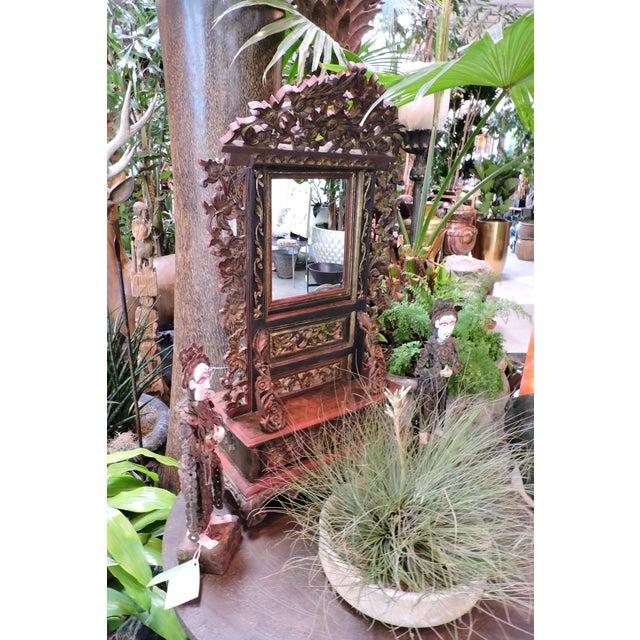 Ornately Carved Vanity Mirror From Madura Island - Image 2 of 7