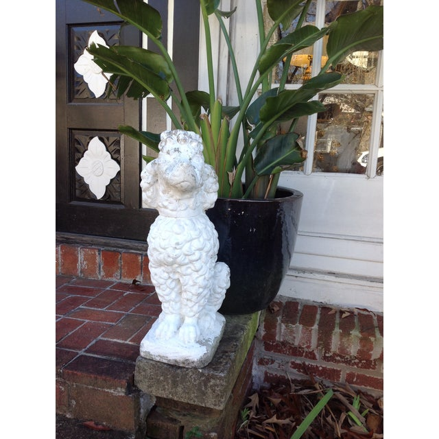 Vintage White Poodle Statue - Image 2 of 4