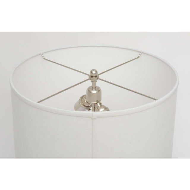 Silver Mid-Century Modern Polished Chrome & Mercury Glass Table Lamp Base For Sale - Image 8 of 10