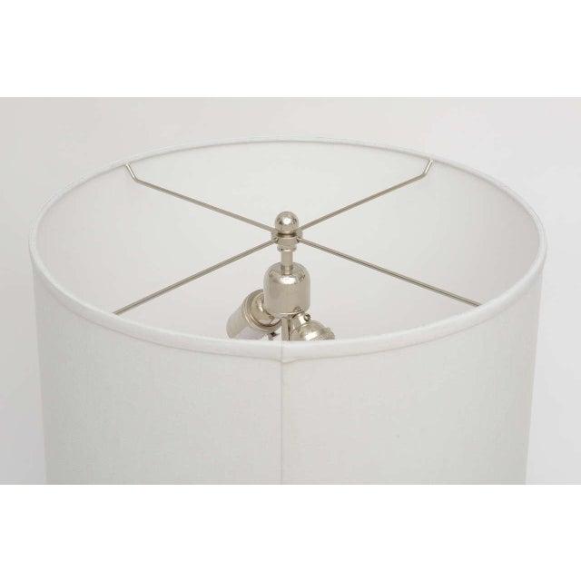 Chrome Mid-Century Modern Polished Chrome & Mercury Glass Table Lamp Base For Sale - Image 8 of 10