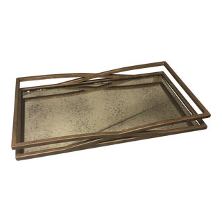 AbstractGlobal Views Bronze Mirrored Accent Tray