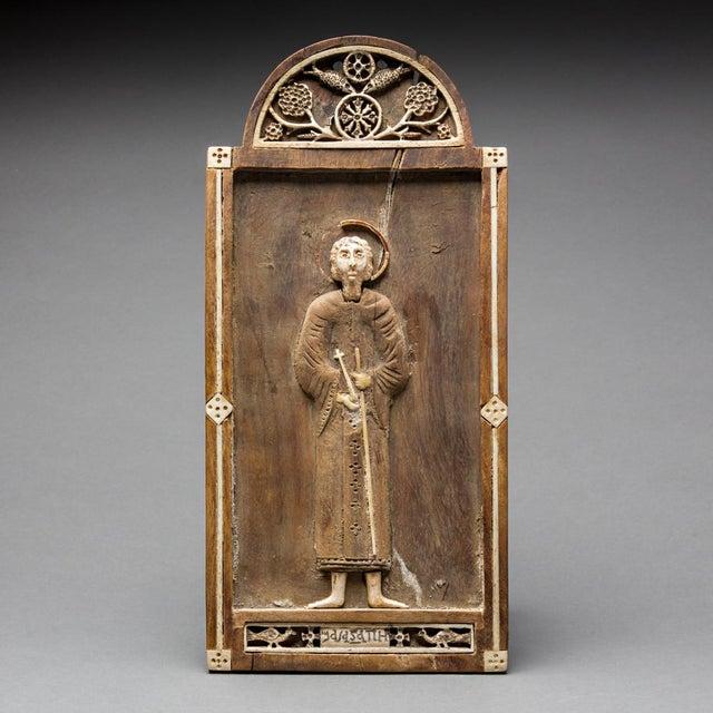 Religious Coptic Votive Lmage of Saint Peter For Sale - Image 3 of 3