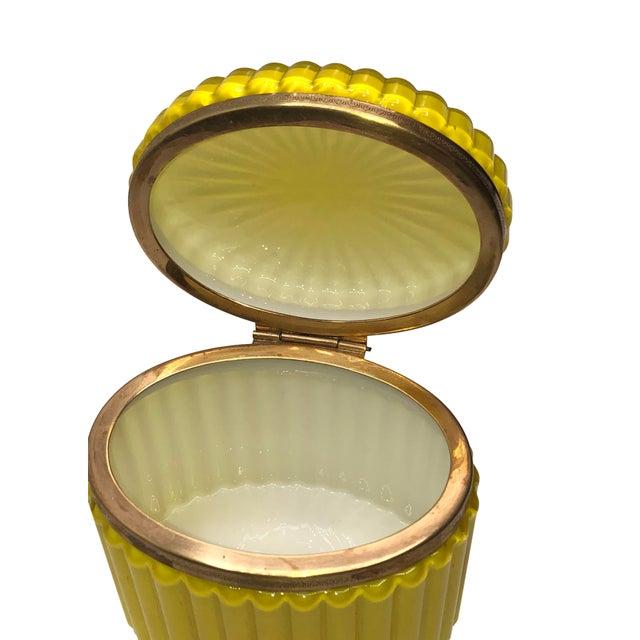 Italian Mid Century Murano Opaline Box For Sale - Image 3 of 6