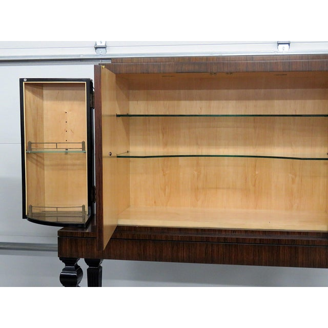 Black Art Deco Style Rosewood Bar For Sale - Image 8 of 10