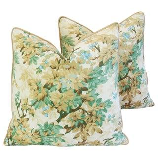 Designer Brunschwig & Fils Foliage Pillows - Pair For Sale