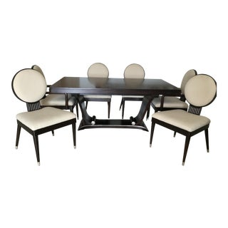 Italian Rosewood Dining Table & Chairs - Dining Set For Sale