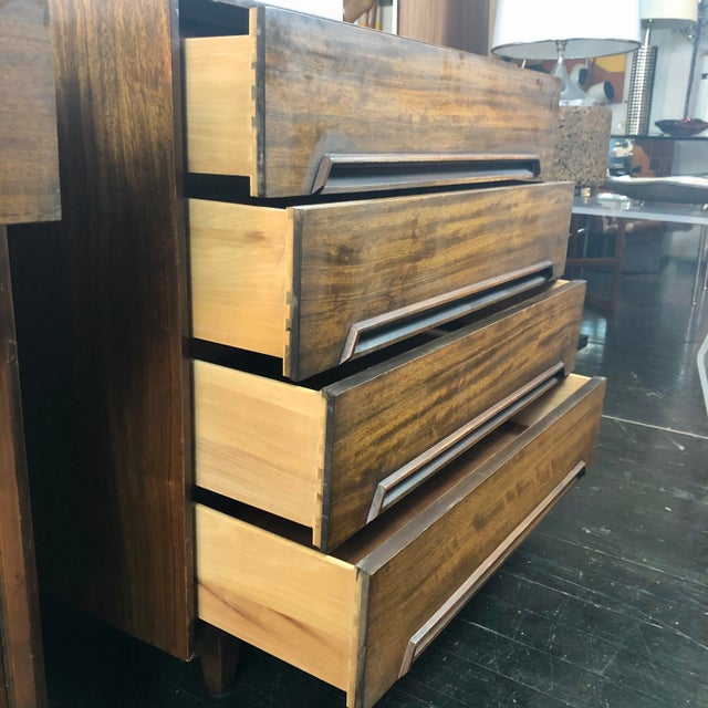 Wood Milo Baughman for Drexel Perspective Chests - a Pair For Sale - Image 7 of 12