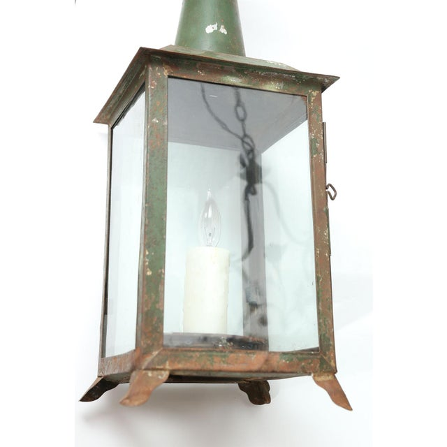 Two French Tôle Lanterns For Sale - Image 4 of 10
