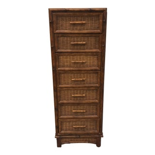 American of Martinsville Faux Bamboo 7 Drawer Lingerie Chest