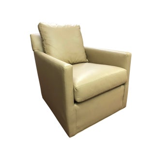 C. R. Laine Oliver Faux Leather Chair For Sale