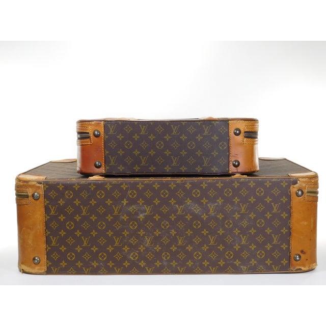 Authentic Vintage Louis Vuitton Suitcases - A Pair - Image 2 of 10