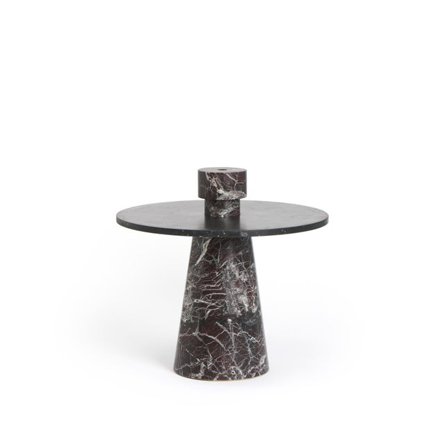 Not Yet Made - Made To Order Modern Coffee Table With Accessories in Red and Black Marble, by Karen Chekerdjian - Set of 4 For Sale - Image 5 of 13
