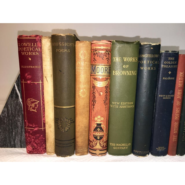 Collection of Antique Poetry Books - Set of 16 For Sale In Atlanta - Image 6 of 7