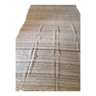 Moroccan Vintage Flat-Weave Brown Textile For Sale