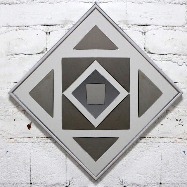 Hal Bienenfeld Pop Art Op Art Geometric Trio of Framed Mirror Wall Sculptures by Hal Bienenfeld For Sale - Image 4 of 13