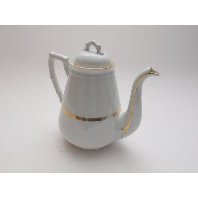Wedding Band China Antique Coffee Pot C. 1890s - Image 2 of 5
