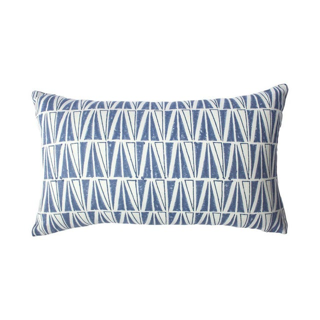 Modern Indigo Deep Pillow For Sale - Image 3 of 3
