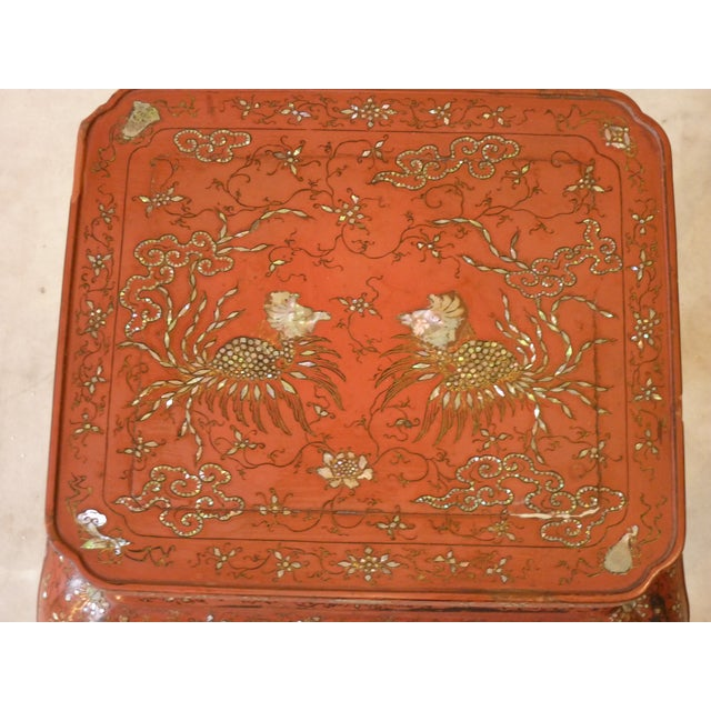 Chinese Laquer Drink Table For Sale - Image 4 of 5