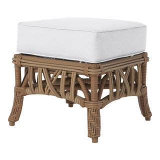 Viscaya Ottoman in Natural Canvas For Sale