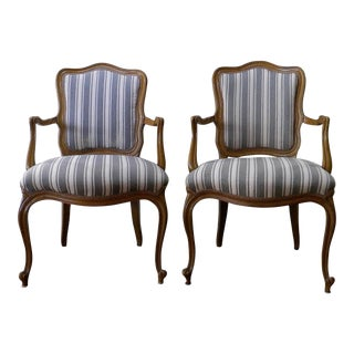 Vintage French Style Fauteuils - a Pair For Sale