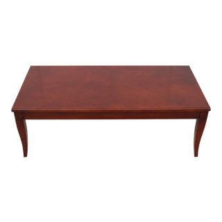 "Lisa Bottom for Hickory Furniture Esplanade 42"" Cherry Rectangular Coffee Table For Sale"