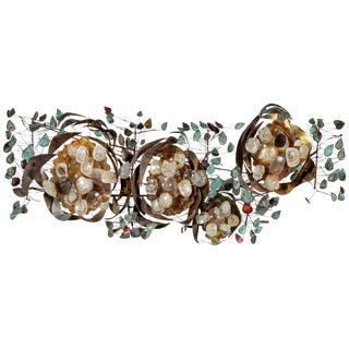 Contemporary Recycled Glass Wall Light For Sale