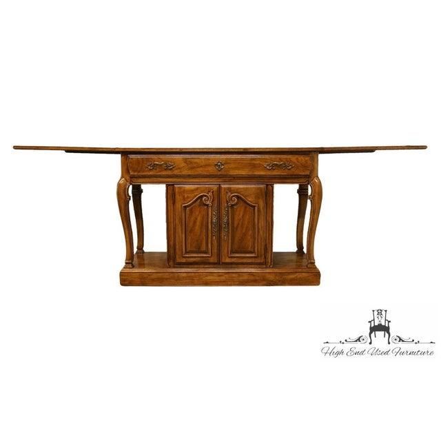 "British Colonial Thomasville Furniture Place Vendome Collection 45"" Flip-Top Server Buffet For Sale - Image 3 of 13"