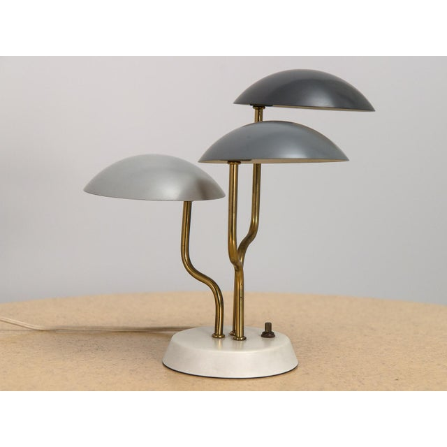 Gino Sarfatti Mid-Century Modern Three Shade Lamp by Gino Sarfatti For Sale - Image 4 of 8