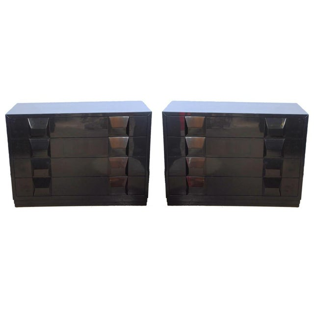 Italian Modern Black Lacquered Nightstands, Poltronova, 1960's For Sale - Image 10 of 10