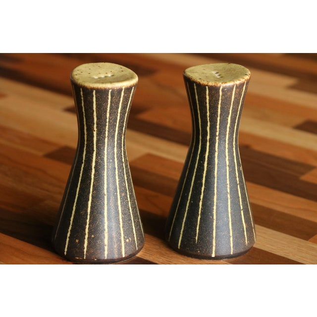 Frank Mann Pottery Salt and Pepper Shakers For Sale In Madison - Image 6 of 6