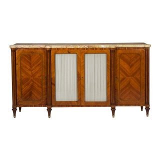 Antique French Louis XVI Style Buffet Server Sideboard Circa 19th Century For Sale