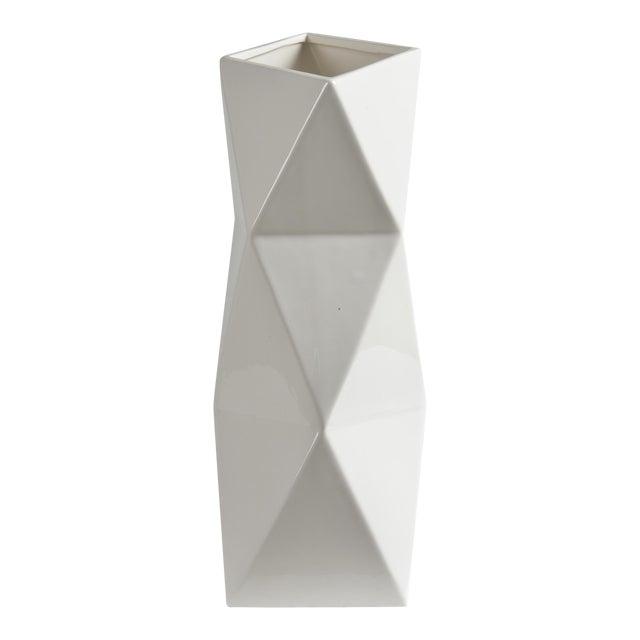 Melville Glossy White Decorative Vase For Sale