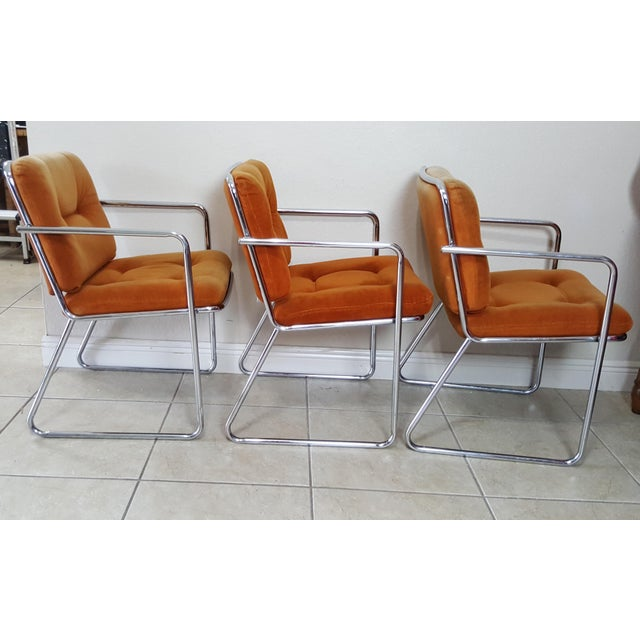 Late 20th Century Vintage 1970s Mid Century Modern ChromeCraft Corp Chairs - Set of 3 For Sale - Image 5 of 13