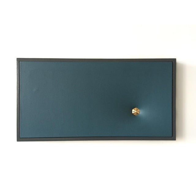 Topher Gent Topher Gent Blue Contemporary Painting Wall Sculpture C. 2019 For Sale - Image 4 of 7