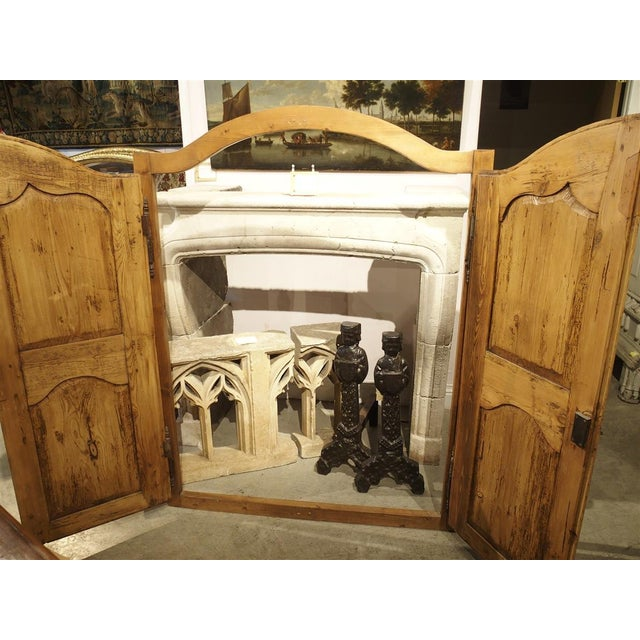 Mid 19th Century Antique French Pine Cabinet Doors For Sale - Image 9 of 12